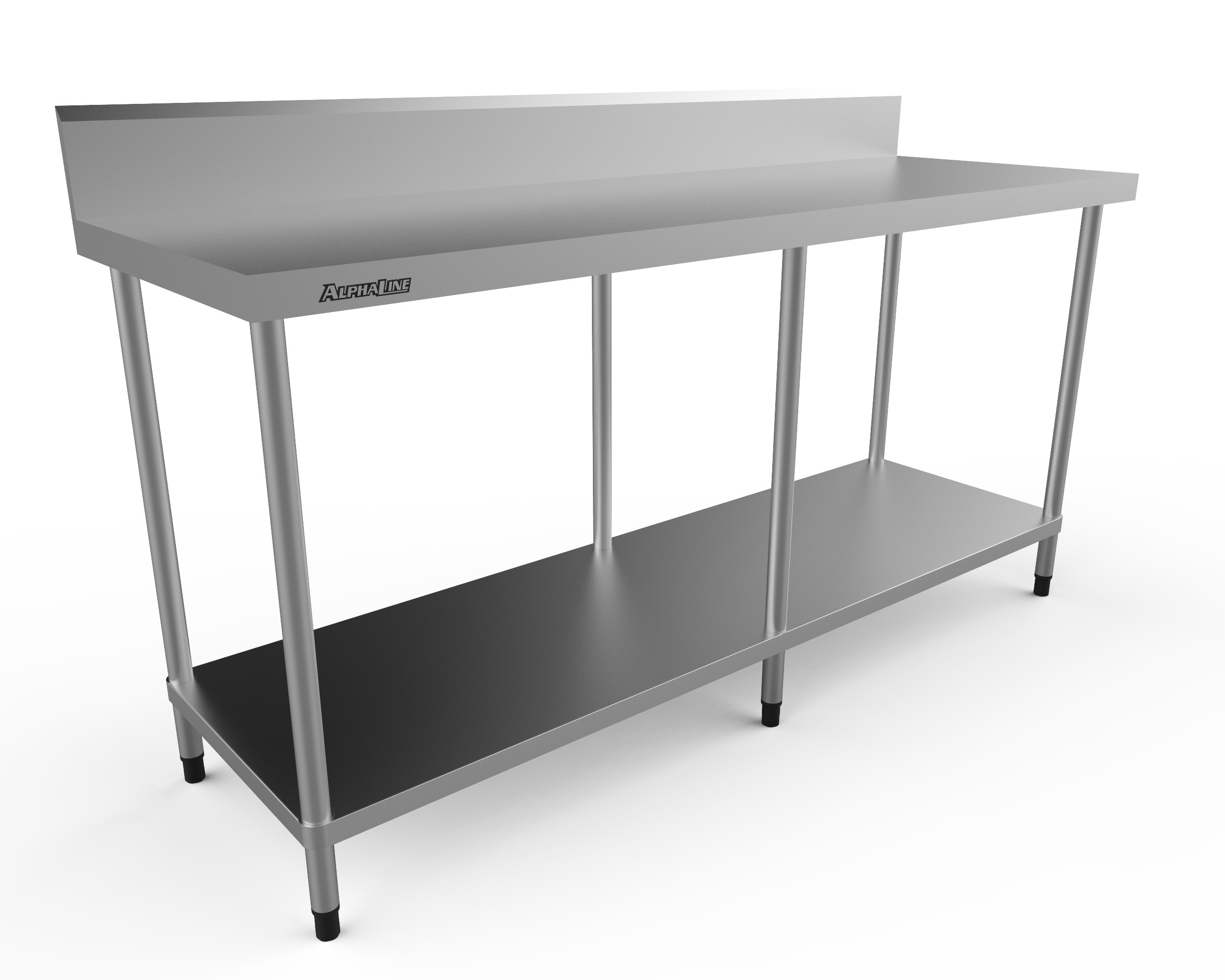Stainless Steel Bench with Splash Back - 1800 x 600 - ALP-SB-60180