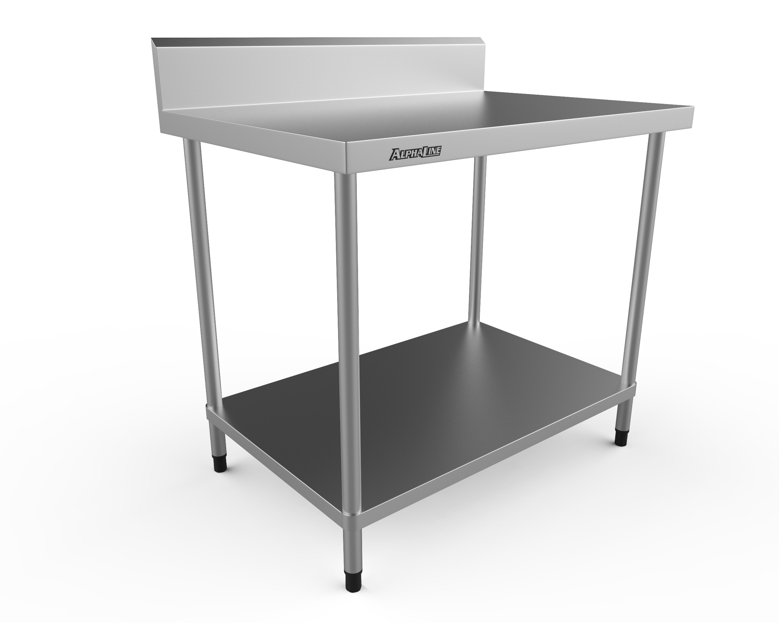 Stainless Steel Bench with Splash Back - 1000 x 700 304 Grade - ALP-SB-70100