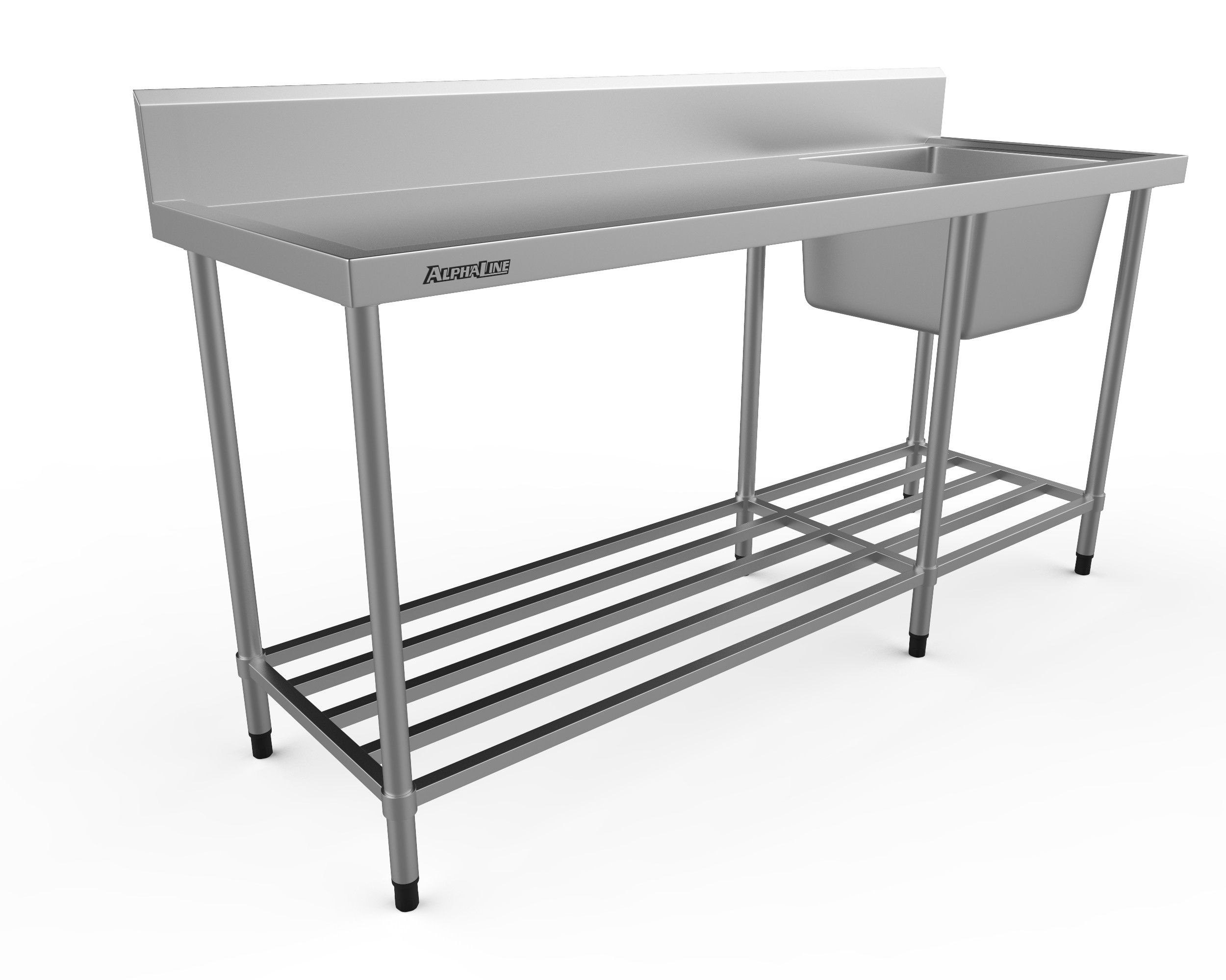 Stainless Steel Sink Bench - 1800 x 600 Right Bowl - XS1-60180R