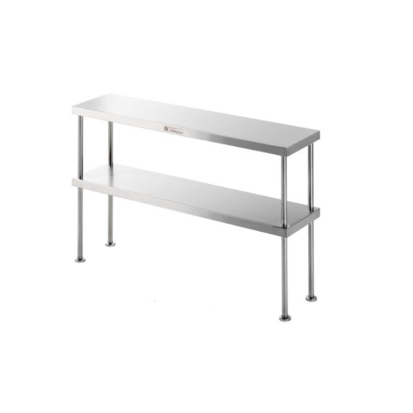 Simply Stainless SS13-1200 Double Bench Overshelf 1200x300