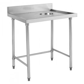 Stainless Steel Waste Collector Bench RHS