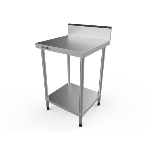 Stainless Steel Bench with Splash Back - 600 x 600 - ALP-SB-6060