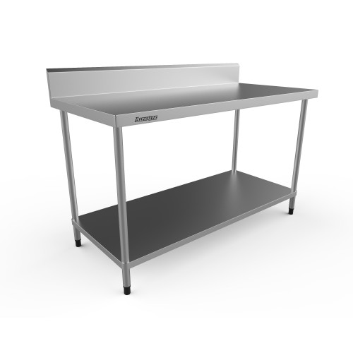 Stainless Steel Bench with Splash Back - 1500 x 700 304 Grade - ALP-SB-70150