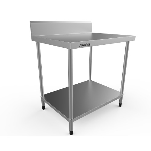 Stainless Steel Bench with Splash Back - 900 x 700 304 Grade - ALP-SB-7090