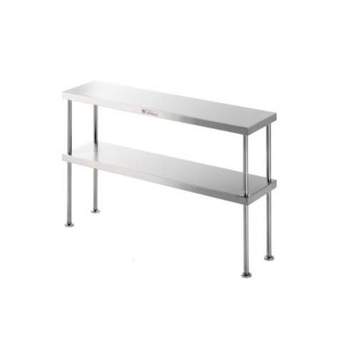 Simply Stainless SS13-1500 Double Bench Overshelf 1500x300