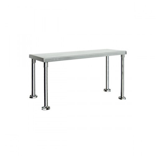 Single Tier Stainless Bench Overshelf Round Base - 1800
