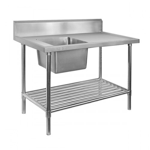 Stainless Steel Bench Single LHS Sink 1200x600