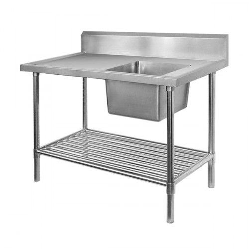 Stainless Steel Bench Single RHS Sink 1500x700