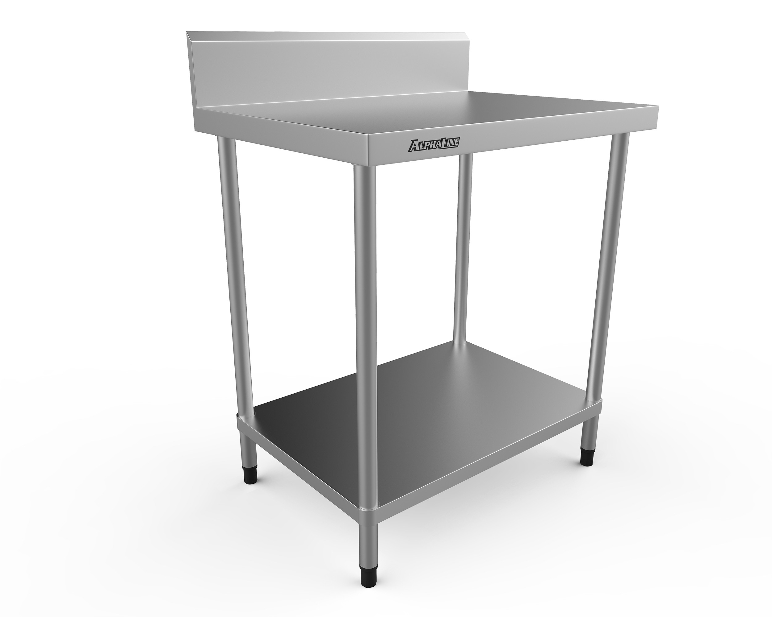 Stainless Steel Bench with Splash Back - 800 x 600 - ALP-SB-6080