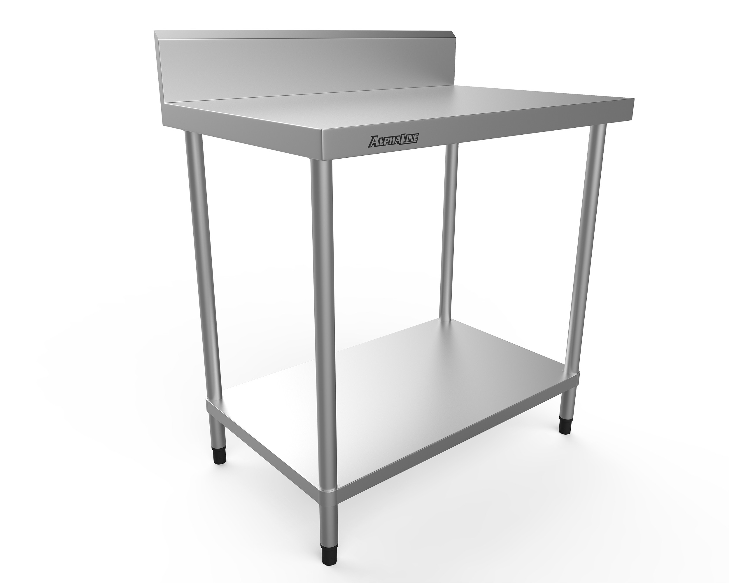 Stainless Steel Bench with Splash Back - 900 x 600 - ALP-SB-6090