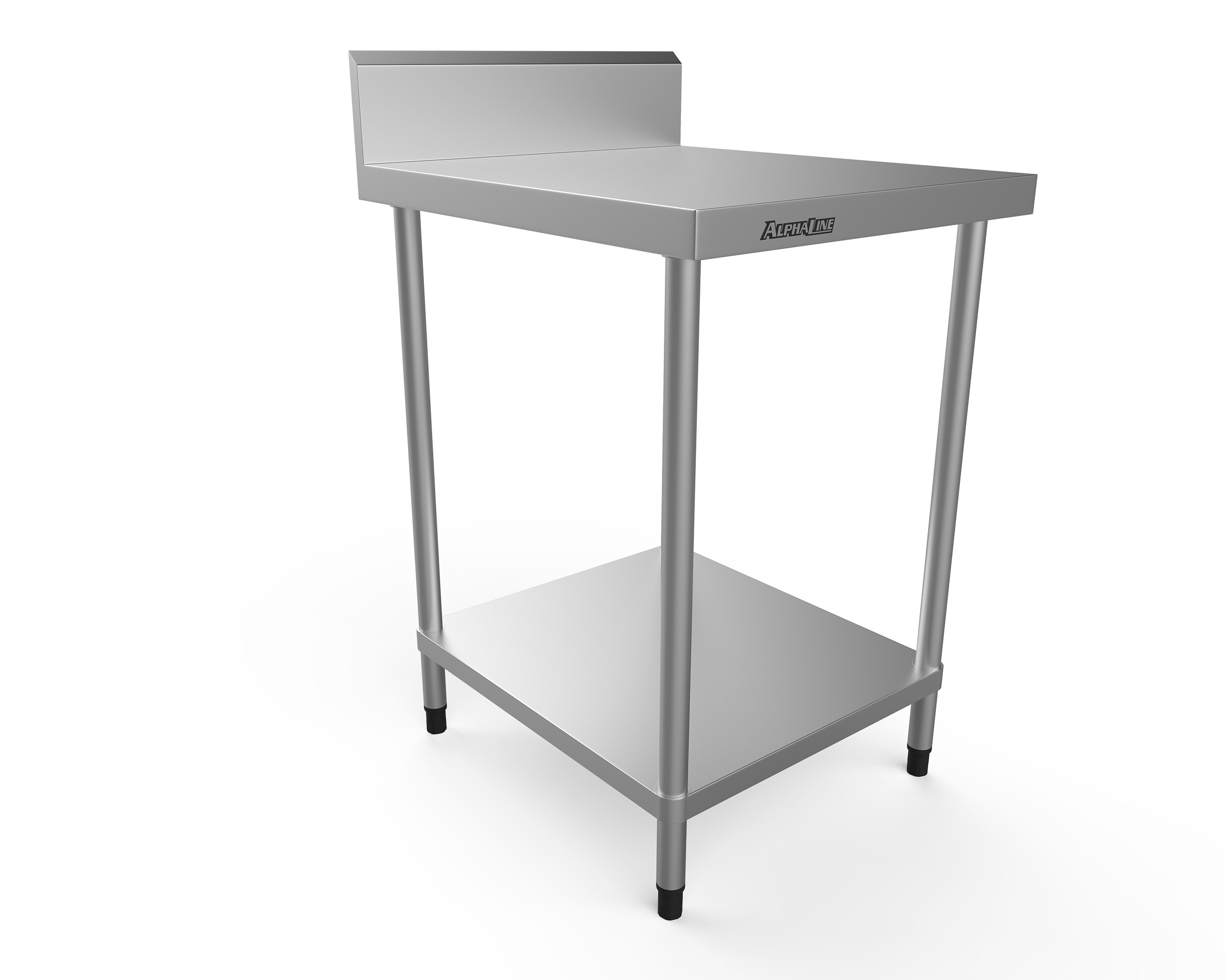 Stainless Steel Bench with Splash Back - 600 x 700 340 Grade - ALP-SB-7060