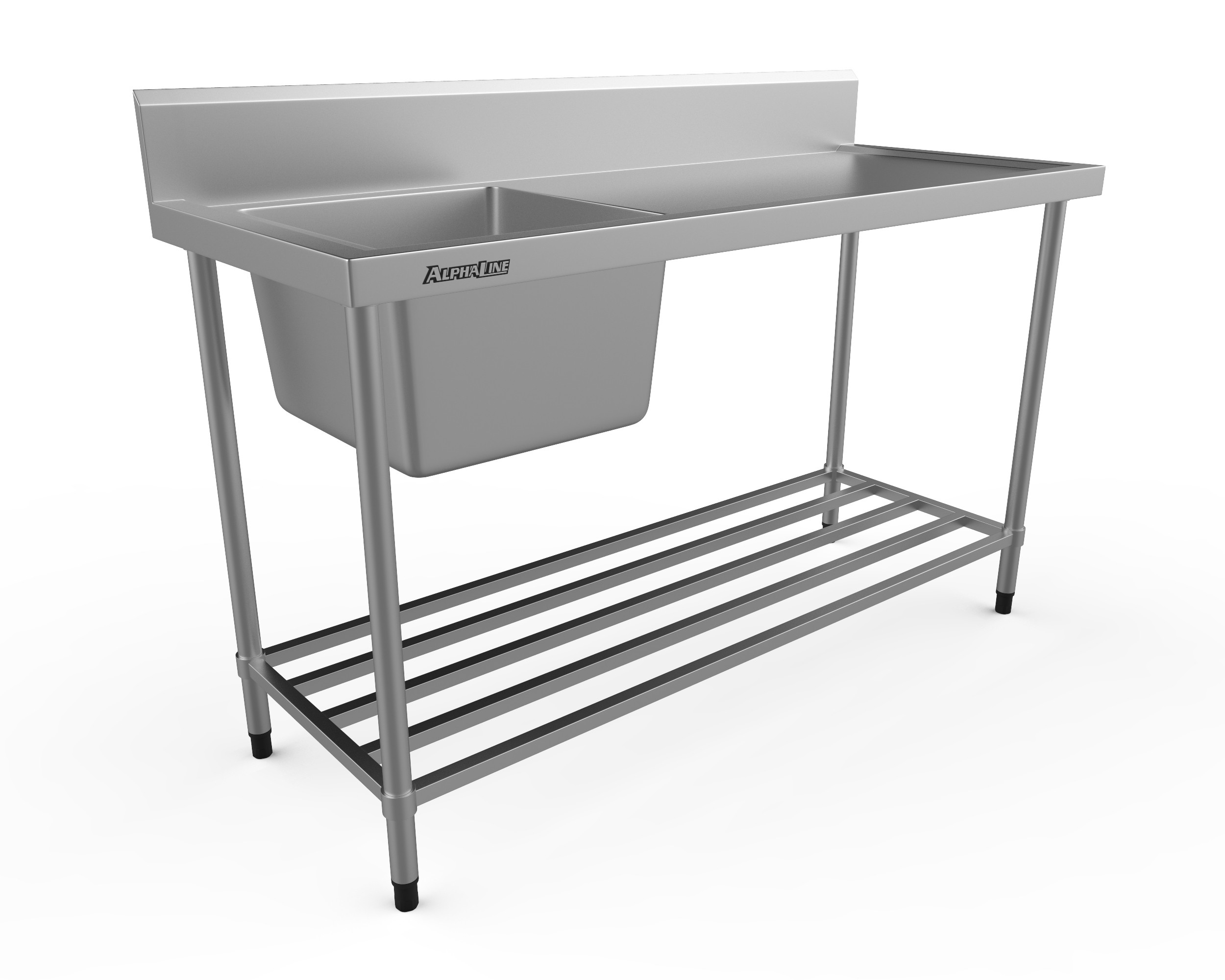 Stainless Steel Sink Bench - 1500 x 600 Left Bowl - XS1-60150L