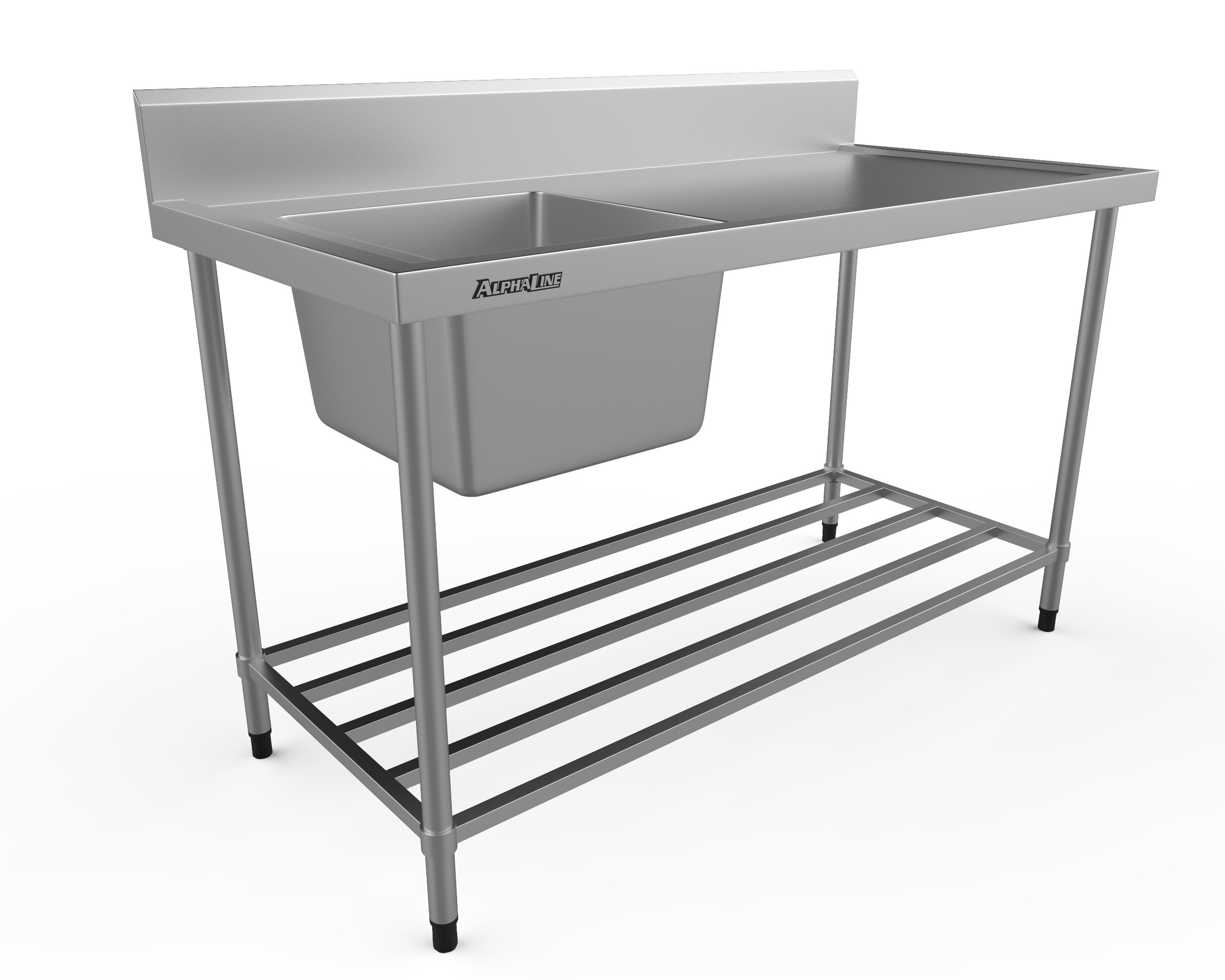 Stainless Steel Sink Bench - 1500 x 700 Left Bowl - XS1-70150L